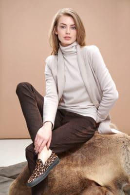 Boiled wool stretch long blazer