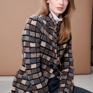 Cosy long 'Teddy fur' blazer