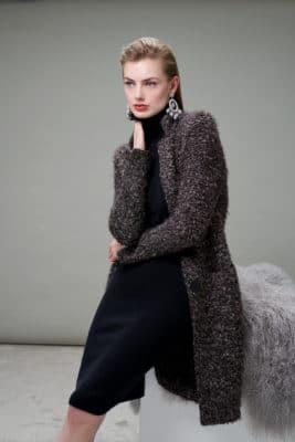 Melange yarn, soft knitted coat