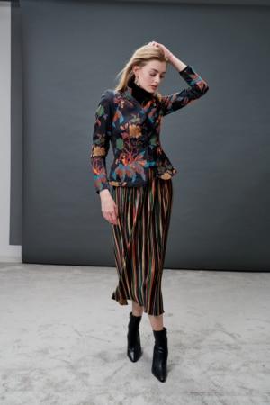 Colorful blazer & skirt