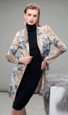 A luxurious, soft velvet blazer