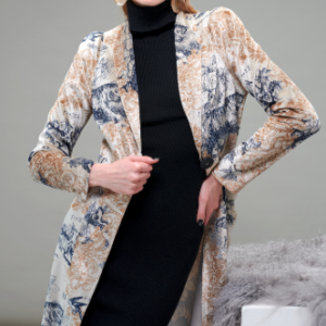 A luxurious, soft velvet blazer